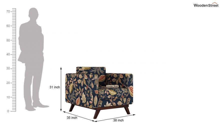 Casper 2 Seater Sofa (Fabric, Dusky Leaf)-9