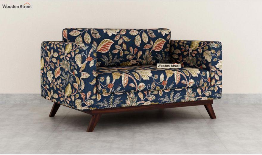 Casper 2 Seater Sofa (Fabric, Dusky Leaf)-2