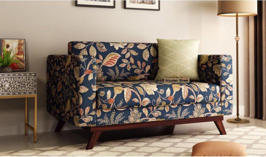Casper 2 Seater Sofa (Fabric, Dusky Leaf)-1