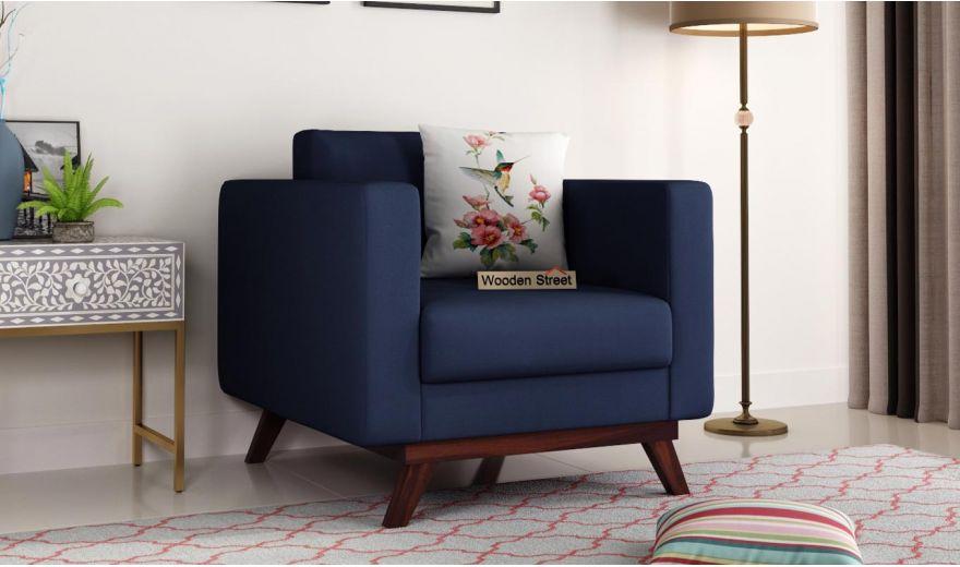 Casper 2 Seater Sofa (Fabric, Indigo Ink)-5