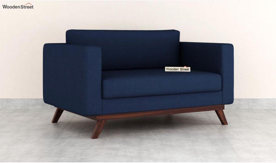 Casper 2 Seater Sofa (Fabric, Indigo Ink)-2
