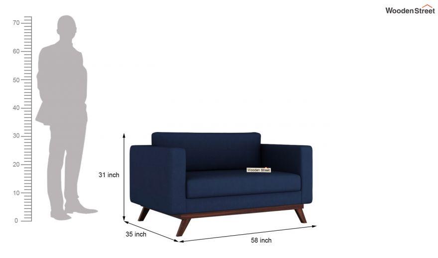 Casper 2 Seater Sofa (Fabric, Indigo Ink)-10