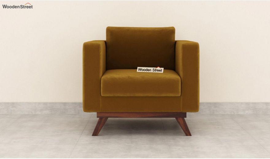 Casper 2 Seater Sofa (Velvet, Chestnut Brown)-6