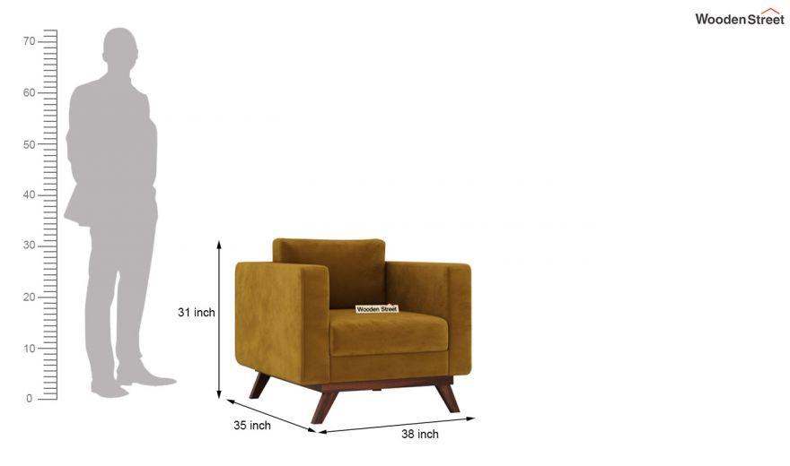 Casper 2 Seater Sofa (Velvet, Chestnut Brown)-9