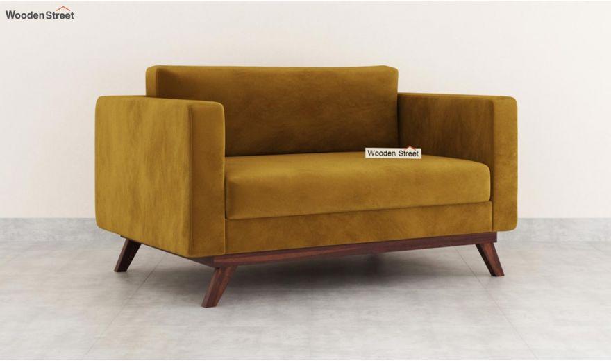 Casper 2 Seater Sofa (Velvet, Chestnut Brown)-2
