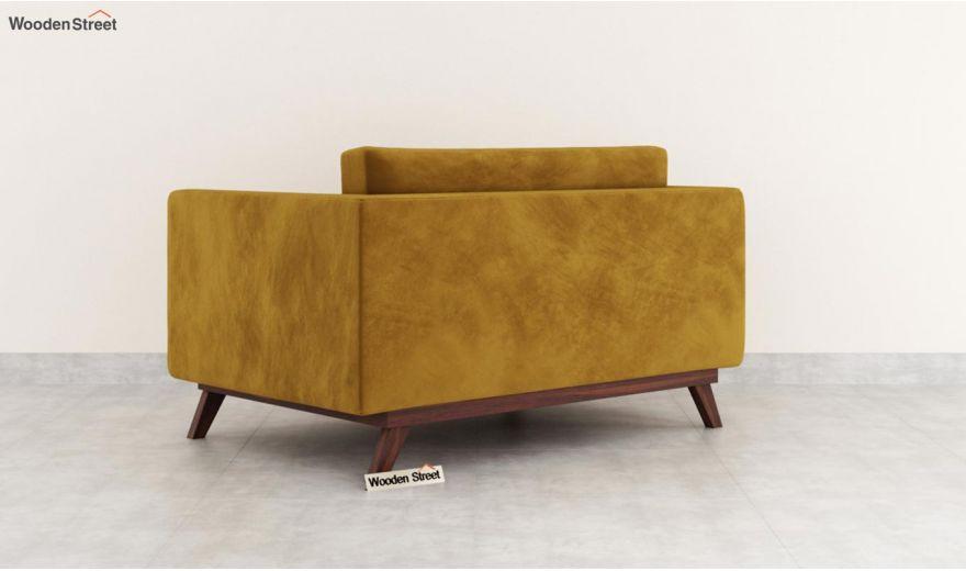 Casper 2 Seater Sofa (Velvet, Chestnut Brown)-4