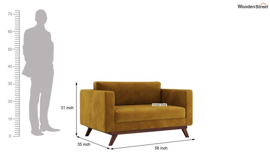 Casper 2 Seater Sofa (Velvet, Chestnut Brown)-10