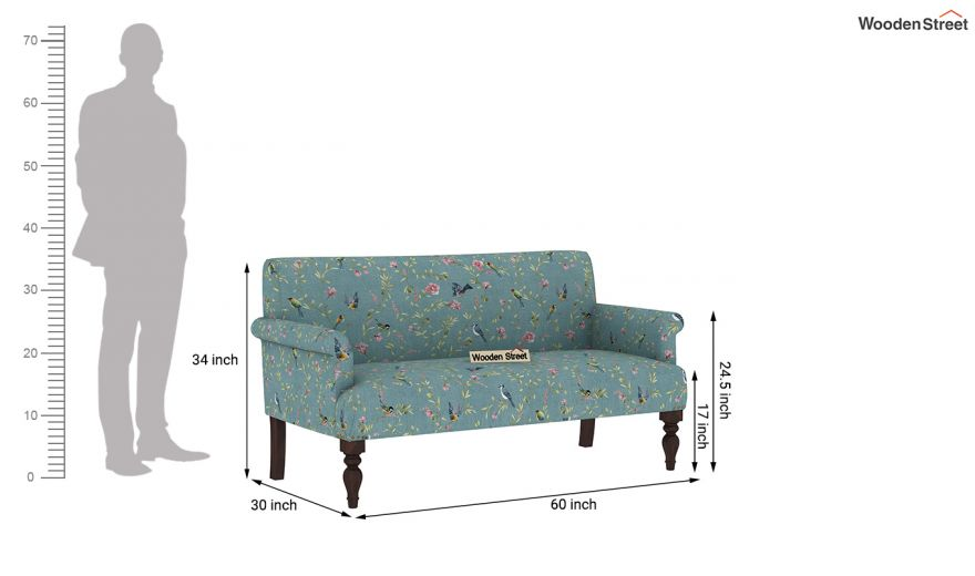 Foley 2 Seater Sofa (Linen, Bubble Robins)-9