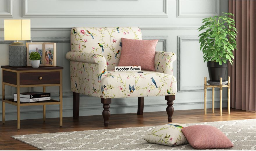 Foley 2 Seater Sofa (Linen, Cream Robins)-4
