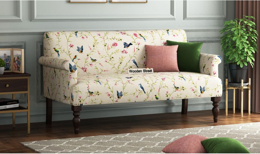 Foley 2 Seater Sofa (Linen, Cream Robins)-1