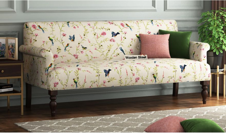 Foley 2 Seater Sofa (Linen, Cream Robins)-6
