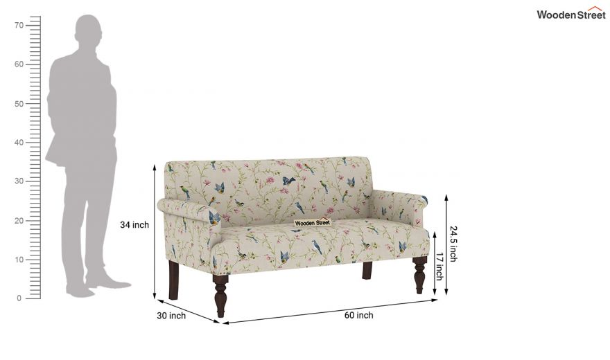 Foley 2 Seater Sofa (Linen, Cream Robins)-9