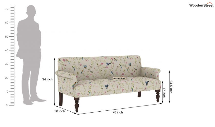 Foley 2 Seater Sofa (Linen, Cream Robins)-10