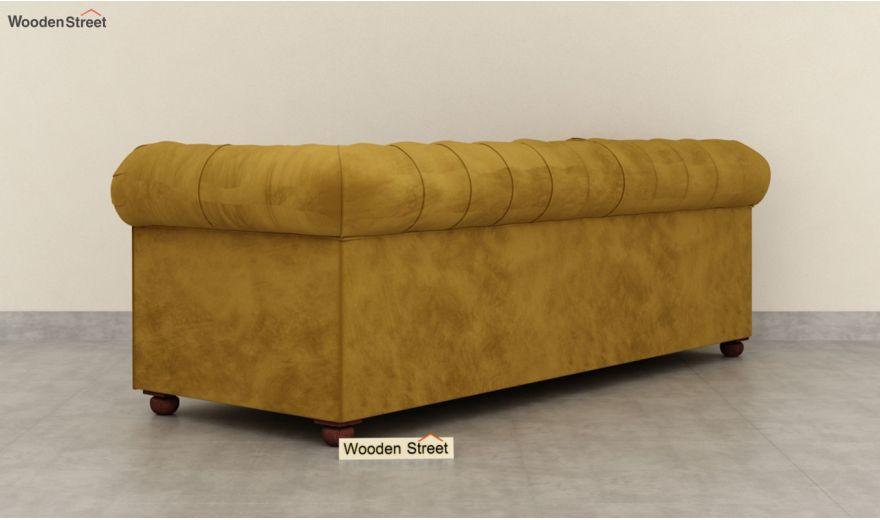 Henry 3 Seater Sofa (Velvet, Chestnut Brown)-6