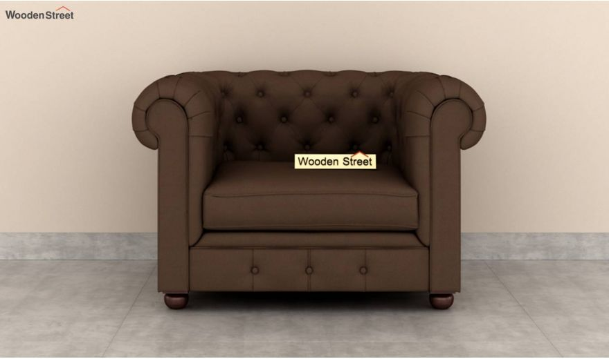 Henry 2 Seater Sofa (Fabric, Classic Brown)-6