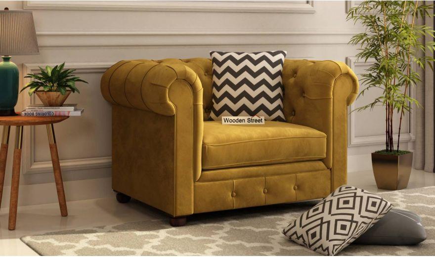 Henry 3 Seater Sofa (Velvet, Chestnut Brown)-8