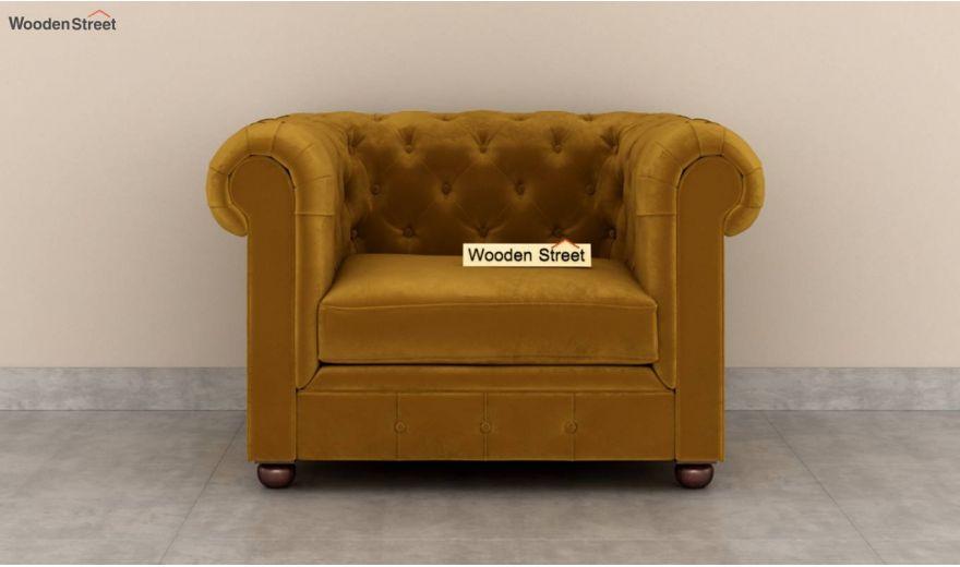 Henry 3 Seater Sofa (Velvet, Chestnut Brown)-9