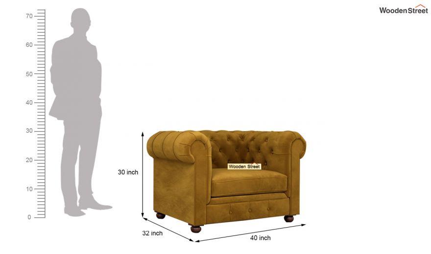 Henry 3 Seater Sofa (Velvet, Chestnut Brown)-12