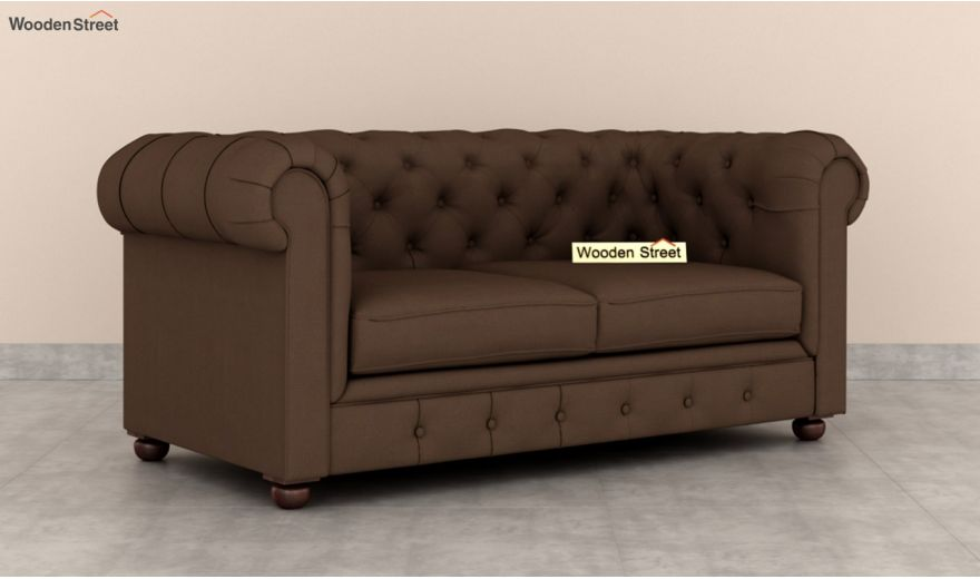 Henry 2 Seater Sofa (Fabric, Classic Brown)-2