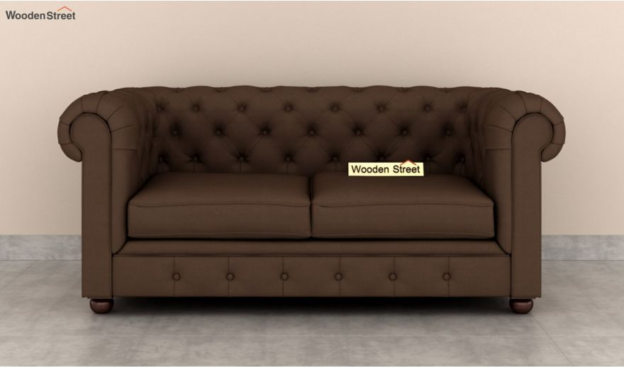 Henry 2 Seater Sofa (Fabric, Classic Brown)-3