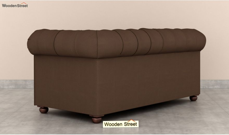 Henry 2 Seater Sofa (Fabric, Classic Brown)-4