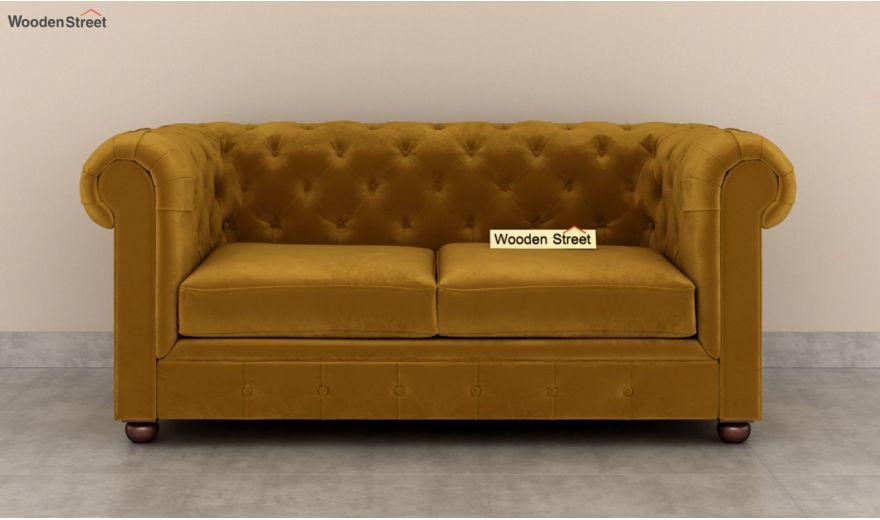 Henry 3 Seater Sofa (Velvet, Chestnut Brown)-11