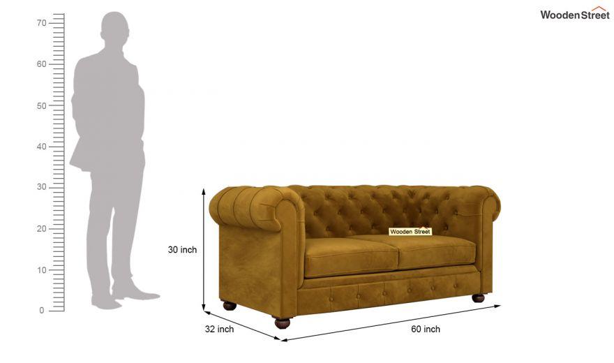 Henry 3 Seater Sofa (Velvet, Chestnut Brown)-13