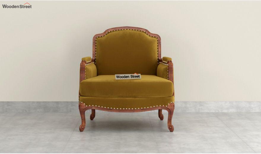 Margret 3 Seater Sofa (Velvet, Chestnut Brown)-6