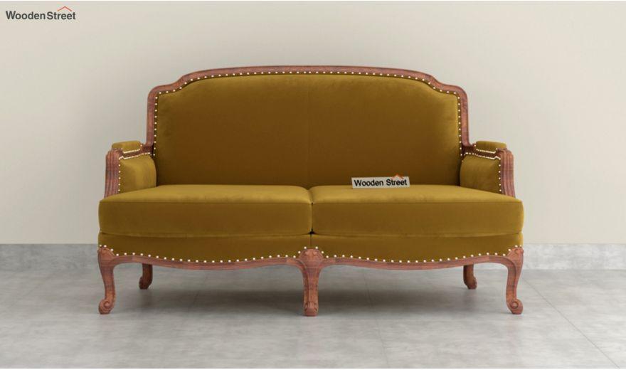 Margret 3 Seater Sofa (Velvet, Chestnut Brown)-8
