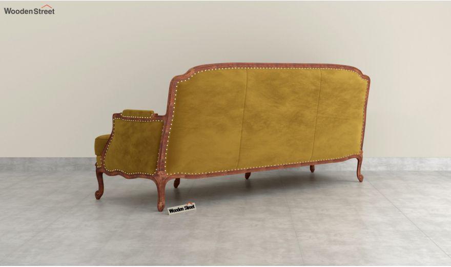 Margret 3 Seater Sofa (Velvet, Chestnut Brown)-4
