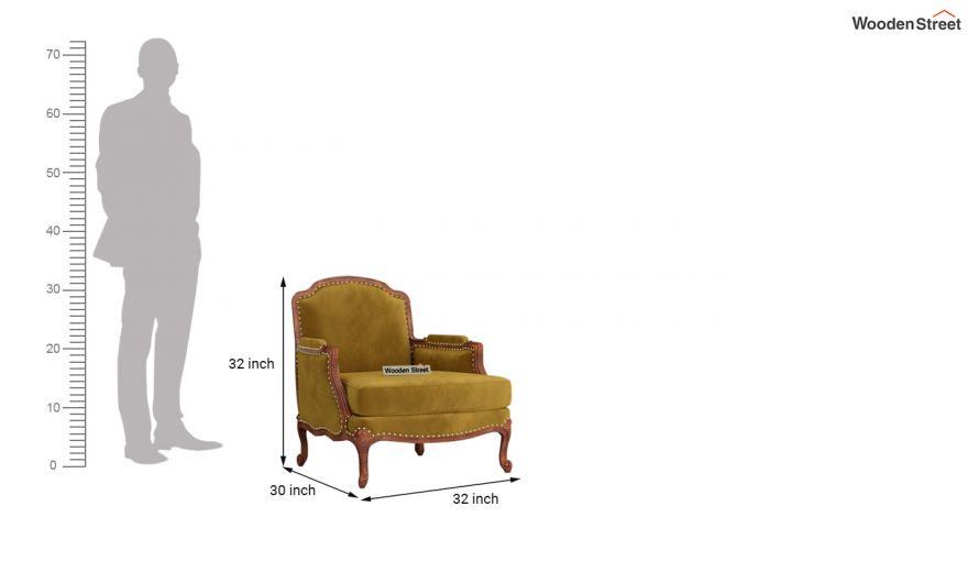Margret 3 Seater Sofa (Velvet, Chestnut Brown)-9
