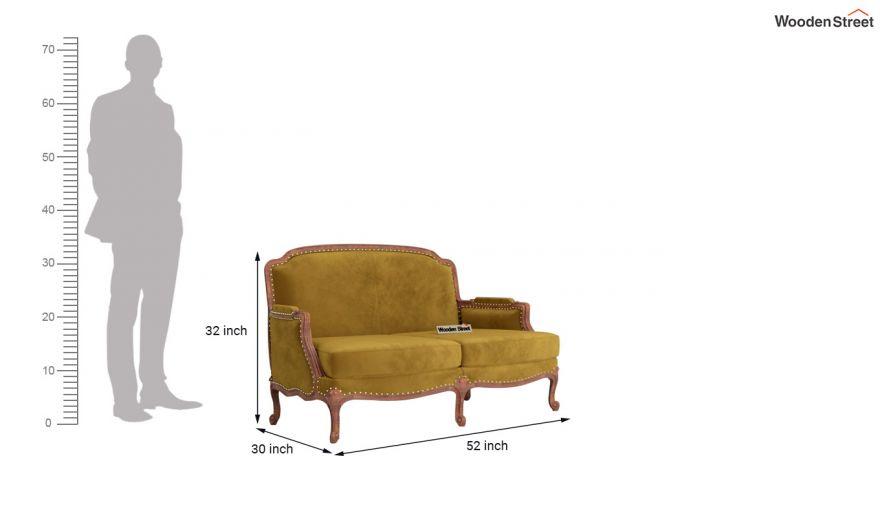 Margret 3 Seater Sofa (Velvet, Chestnut Brown)-10