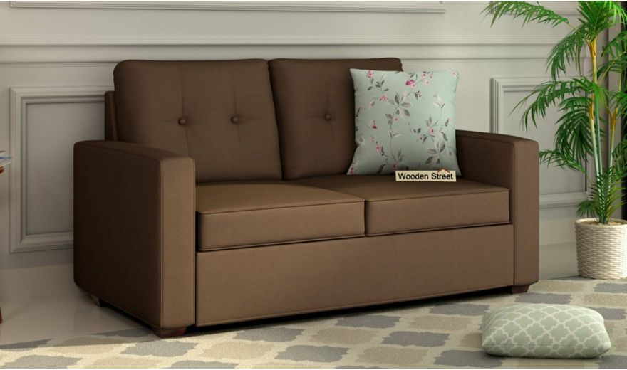 Nicolas 3 Seater Sofa (Cotton, Classic Brown)-7