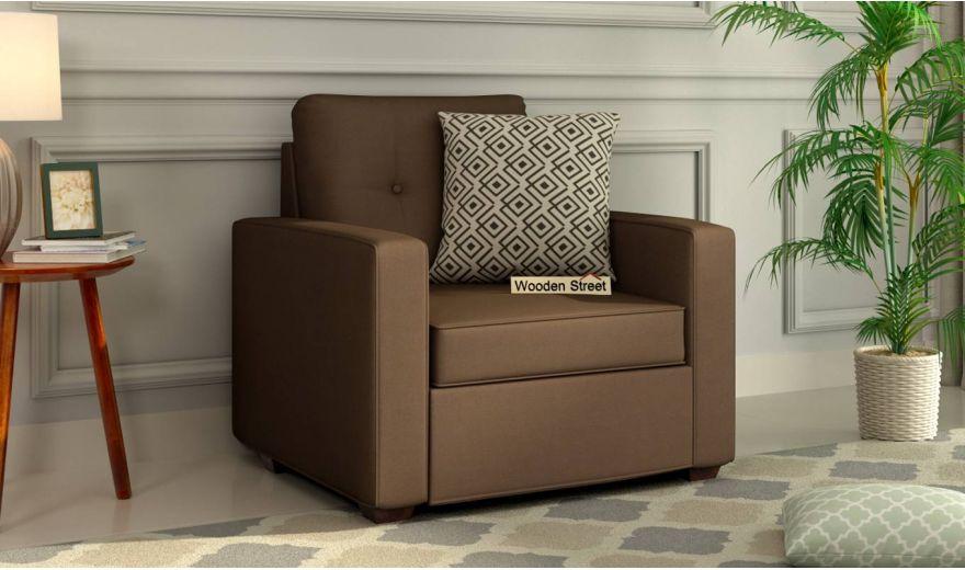 Nicolas 3 Seater Sofa (Cotton, Classic Brown)-5