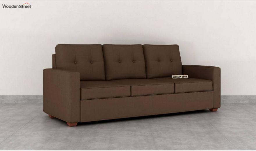 Nicolas 3 Seater Sofa (Cotton, Classic Brown)-2