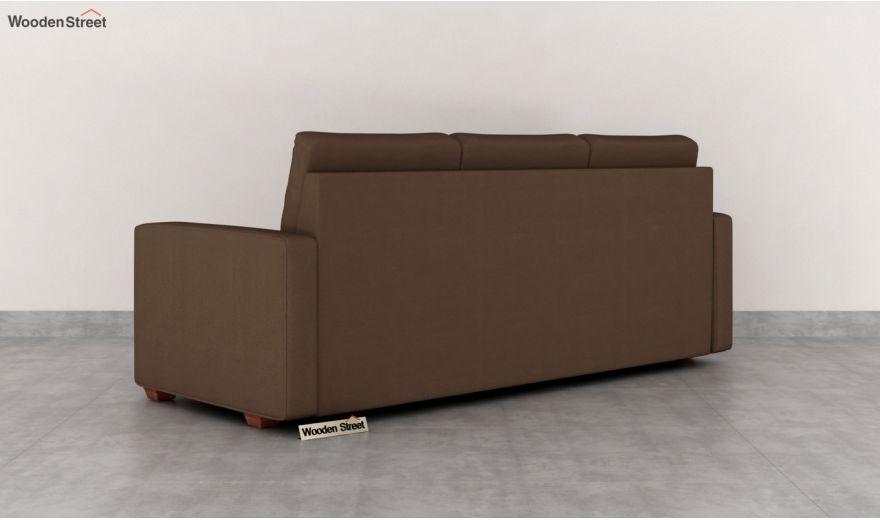 Nicolas 3 Seater Sofa (Cotton, Classic Brown)-4