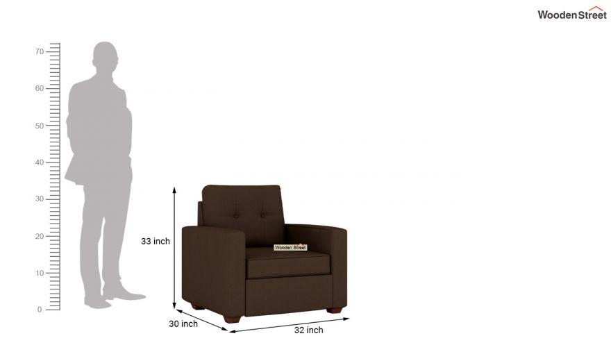 Nicolas 3 Seater Sofa (Cotton, Classic Brown)-9