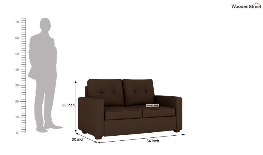 Nicolas 3 Seater Sofa (Cotton, Classic Brown)-10