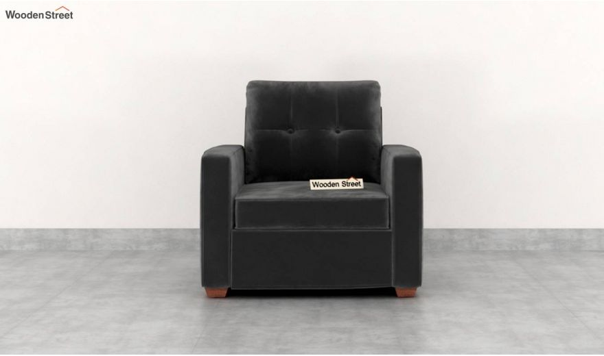 Nicolas 2 Seater Sofa (Velvet, Graphite Grey)-6