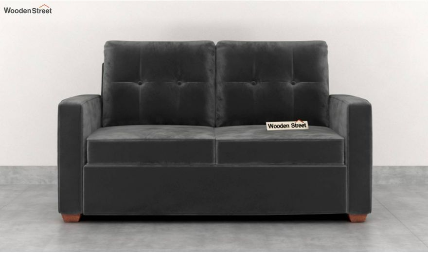 Nicolas 2 Seater Sofa (Velvet, Graphite Grey)-3