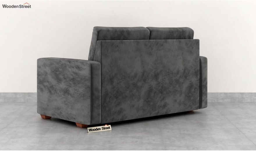 Nicolas 2 Seater Sofa (Velvet, Graphite Grey)-4