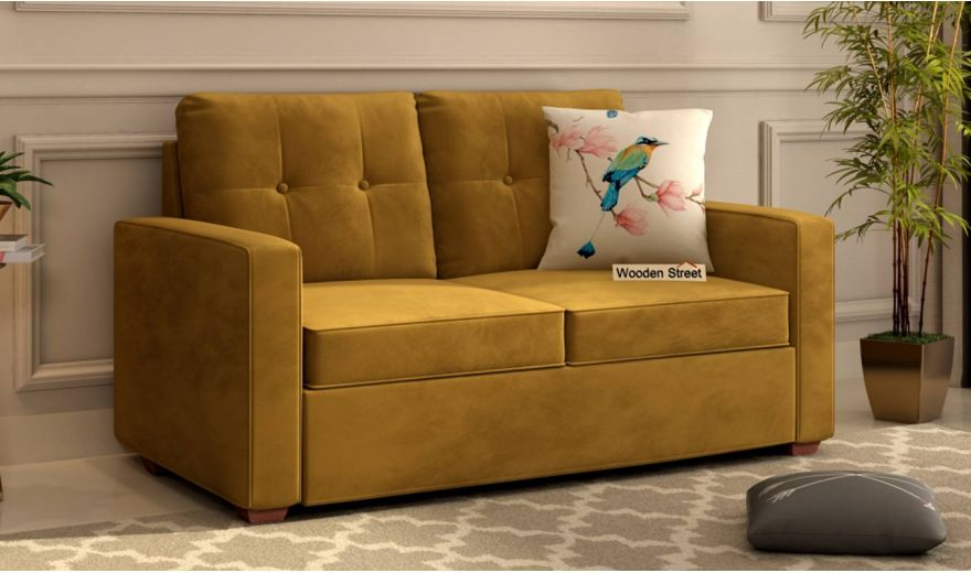 Nicolas 3 Seater Sofa (Velvet, Chestnut Brown)-7