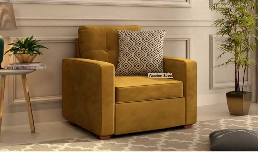 Nicolas 3 Seater Sofa (Velvet, Chestnut Brown)-5