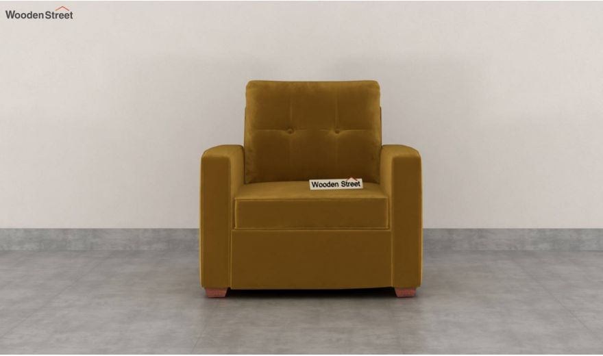 Nicolas 3 Seater Sofa (Velvet, Chestnut Brown)-6