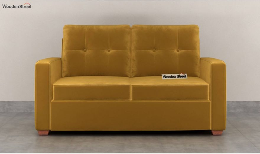 Nicolas 3 Seater Sofa (Velvet, Chestnut Brown)-8