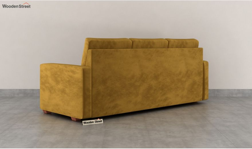 Nicolas 3 Seater Sofa (Velvet, Chestnut Brown)-4