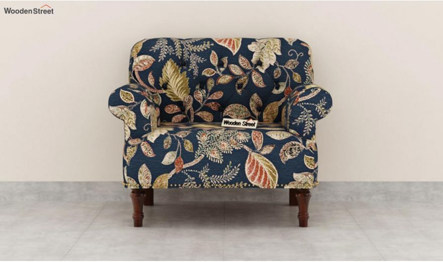 Parker 3 Seater Sofa (Fabric, Dusky Leaf)-7