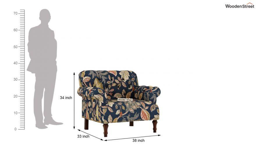 Parker 3 Seater Sofa (Fabric, Dusky Leaf)-10