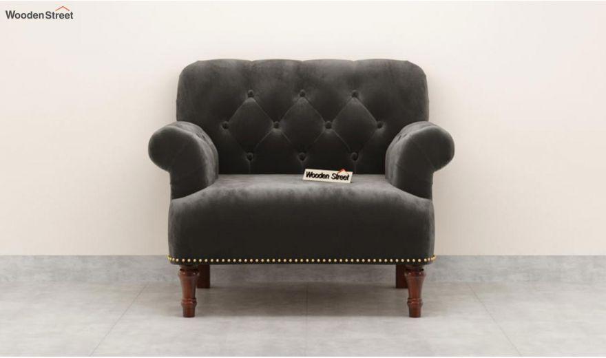 Parker 3 Seater Sofa (Velvet, Graphite Grey)-9