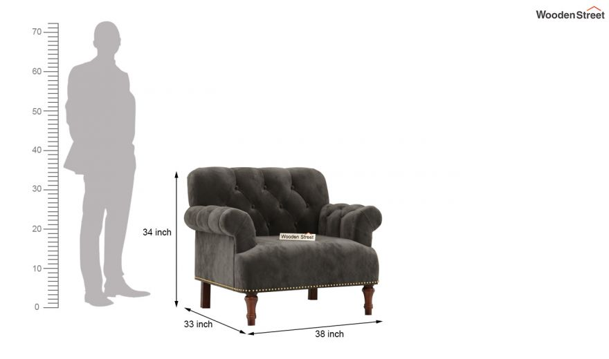 Parker 3 Seater Sofa (Velvet, Graphite Grey)-12
